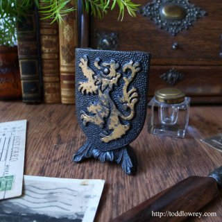Vintage Metal Shield with the Lion A