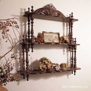 Antique Waterfall Wall Shelves