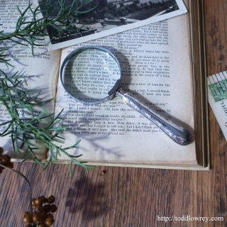 優美な使い心地を約束するシルバールーペ/ Antique Silver Handle Magnifying Glass 1908