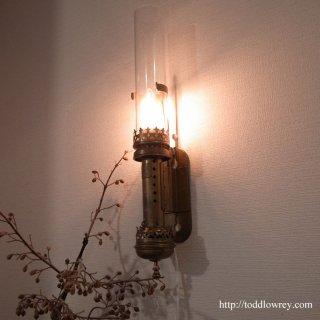 鉄道の聖地を旅してきた黄金色のランプ /Antique Wall Lamp of Swiss Federal Railways