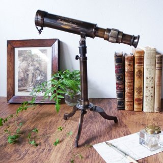 Vintage Brass Telescope on Fitted Tripod Stand