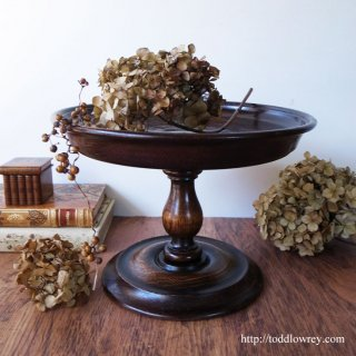 Antique Victorian Oak Cake Stand
