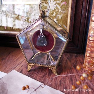 中欧を旅してきた知恵と力のペンタゴン / Antique  Glass Pocket Watch Display Pentagonal Vitrine Box