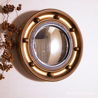 Regency Style Giltwood Small Convex Mirror