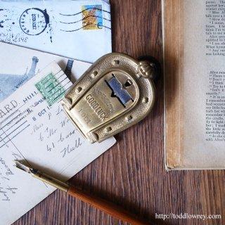 Antique Edwardian Horseshoe Letter Clip by M.MYERS&SON