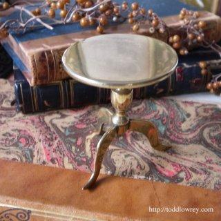 Antique Brass Tilt Top Miniature Table