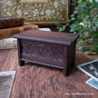 Antique Miniature Oak Coffer