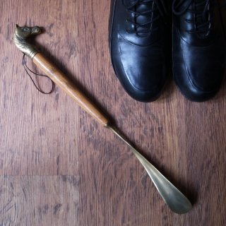 ありふれていない日常品 / Vintage Brass Horse Head Shoe Horn