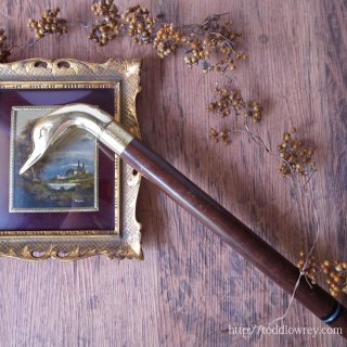 Vintage Three Pieces Duck Head Walking Stick with Flask