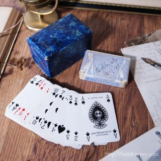 1933年9月12日のトランプ / Vintage Waddingtons Playing Card Two Decks with the Box