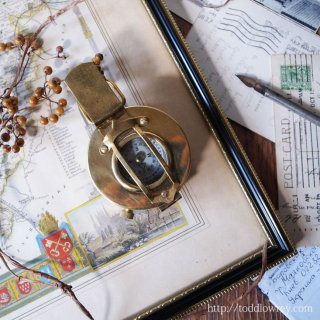 Vintage Brass Prismatic Compass