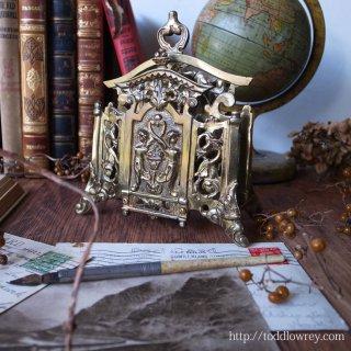 幻想的な様式に彩られた小芸術 / Antique Grotesque Style Brass Letter Rack