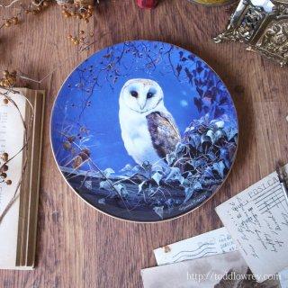 木陰に潜む宵の番人 / Vintage BRADFORD EXCHANGE Plate