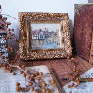 ありきたりで特別な小さな絵画 / Antique Guilt Frame with Water Colour
