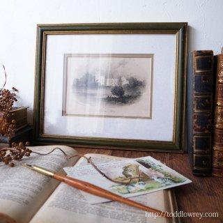 詩人バイロンが手に入れたイングランドの名勝 / Antique  Engraving