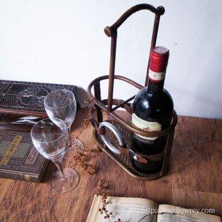 馬を愛し、ワインを愛する日々のために / Vintage Bottle Carrier Horse Harness Motief