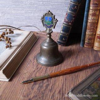 私たちの働きは神の助けで成功する / Vintage Brass Table Bell