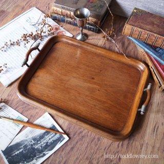 エドワーディアンから貴方へのサーヴをどうぞ /Antique Wooden Tary with Handles