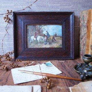 18世紀の香りを纏うアートフレーム / Antique Print with Oak Frame by W.E.MARK,