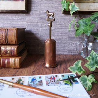 ntique Copper & Brass Small Brush With SPANIEL