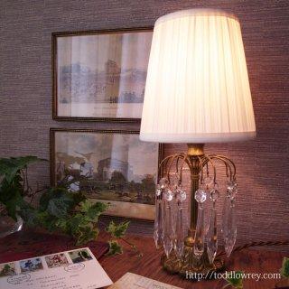 華やかにきらめく光の泉 / Antique Table Lamp with Prism