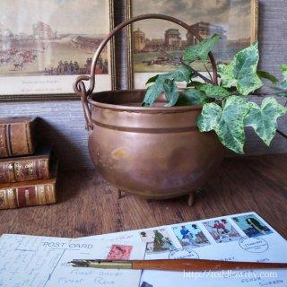 魔女が秘薬を煮込む鍋 / Vintage Copper Pot-Large