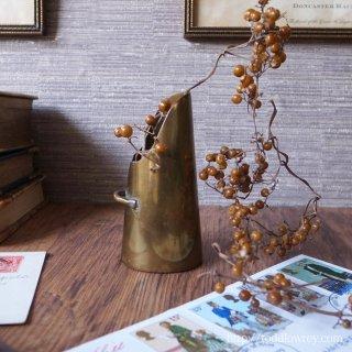 Vintage Miniature Brass Coal Scuttle-1