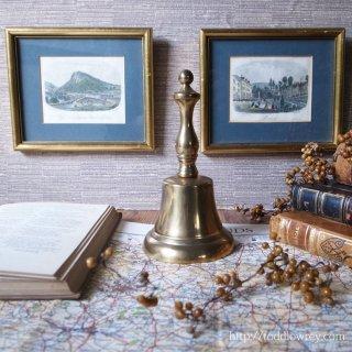 刻をしらせ、用をしらせる粋な小道具/ Vintage Brass Hand Bell