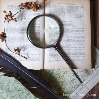 曲げて留めて出来上がり /Antique Magnifying Glass