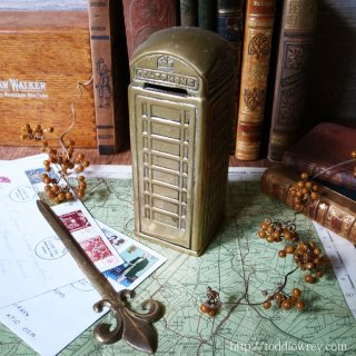 英国が愛する赤いアイコン / Vintage Brass Manoy Bank Telephone Box K6