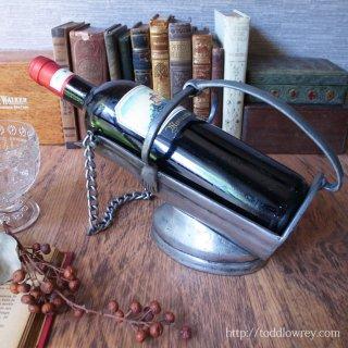 ワインは踊りを躍らせる / Vintage Pewter Wine Holder