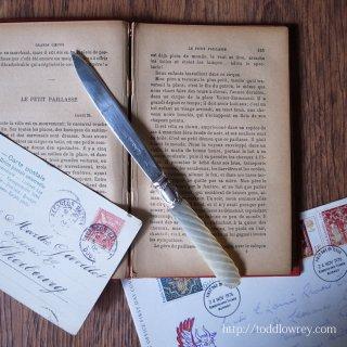 ヴィクトリアンのシェフィールドから / Antique Sterling Silver & MOP Letter Opener