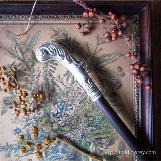 薔薇の銘木を飾る美しきアカンサス / Antique Walking Stick with Ornate Acanthus Grip