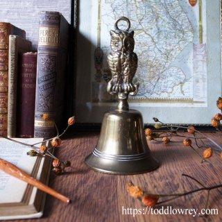 夜の森に響く音色 / Antique Table Bell with Owl