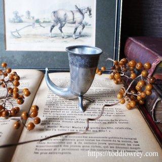海賊の乾杯の声が聞こえる / Vintage Perter Miniature Viking Drinking Horn