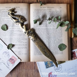 ドラゴンの剣 /Antique Brass Dragon Letter Opener