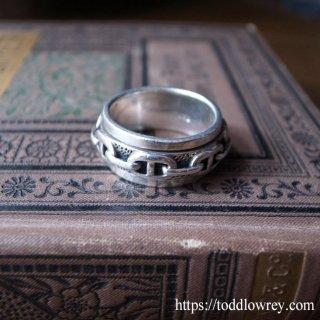 指元でくるくる廻して物思い / Vintage Starling Silver Spin Ring