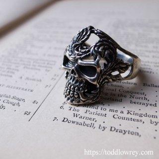 グリーンマンの頭蓋骨?/ Vintage Silver Ugly Ring