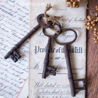19世紀英国への扉を開けよう / Antique Door Key set of 3