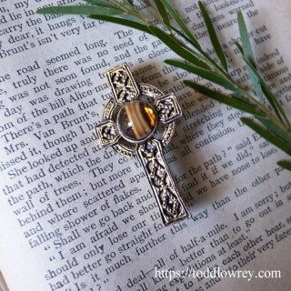 Vintage Celtic Cross Brooch