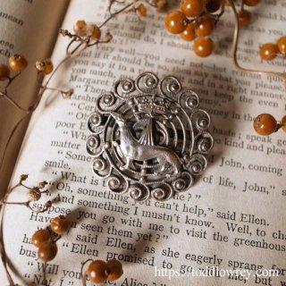 汚れるよりはむしろ死を/ Antique Silver Plated Brooch