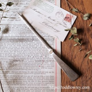 イングランドの酒屋さんのレターオープナー / Vintage Letter Opener by PATEN & Co