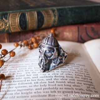 最強のモンゴル兵を手にする / Vintage Mongolian Warrior Sterling Silver Ring