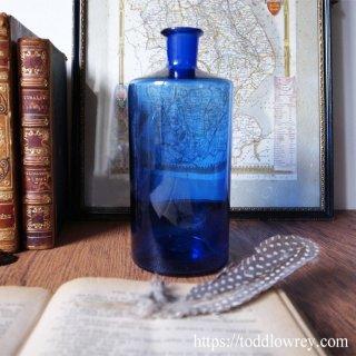 青い蒼いボトルを愛でる / Antique Large Blue Bottle