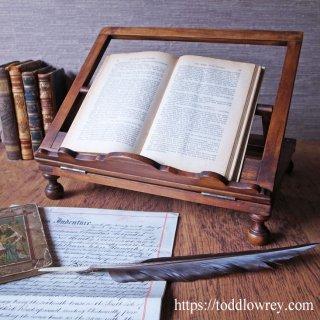 慎み深く美しい意匠をもつ書架 / Antique Victorian Collapsible & Adjustable Bbook Stand