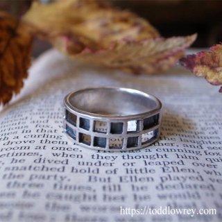 指に嵌める銀のグリッド / Vintage Sterling Silver Ring