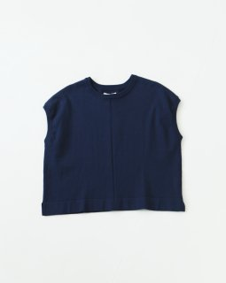 THE FACTORY knit-cotton silk トップス NAVY