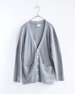 THE FACTORY men's knit-cotton silk カーディガン GRAY
