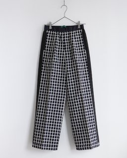 ohta white check pants WHITE CHECK