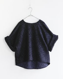 SI-HIRAI BLOUSE WIDE SLEEB NAVY
